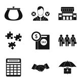 Office plankton icons set, simple style Royalty Free Stock Photography