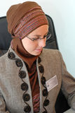 Office portrait. Muslim woman in office portrait Stock Photos
