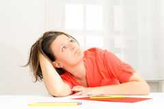 Office portrait of beautiful business woman Royalty Free Stock Photos