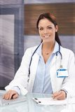 Office portrait of female doctor Royalty Free Stock Photo