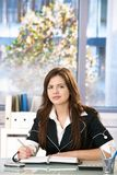 Office portrait of young woman Stock Photos