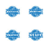 Office position stamp Stock Photography