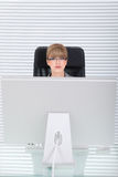 Office potrait of a young business woman Royalty Free Stock Photography