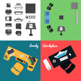Office and Presentation Icons Royalty Free Stock Image