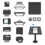 Office and Presentation Icons Royalty Free Stock Photography