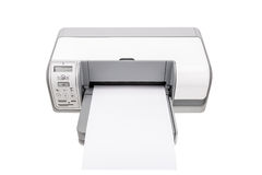 Office printer with a clean paper for text. Stock Image
