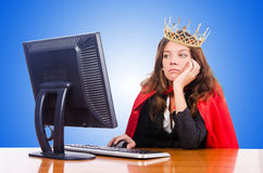 Office queen isolated on the white. The office queen isolated on the white Royalty Free Stock Photography