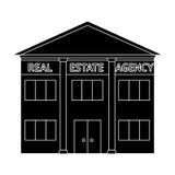 Office real estate agency.Realtor single icon in black style vector symbol stock illustration web. Stock Image