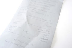 Office Receipt Stock Image
