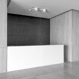 Office reception area stock images