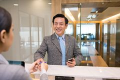 At the office reception Royalty Free Stock Photography