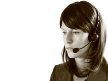 Office receptionist. Image taken of a female receptionist in the office speaking to a customer Royalty Free Stock Image