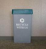 Office recycling station Stock Photo