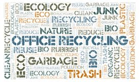 Office Recycling word cloud. Wordcloud made with text only stock photos