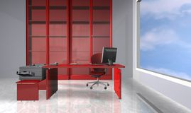 Office red. 3d rendering financial office red Stock Photo
