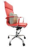 Office red chair Royalty Free Stock Photography