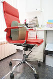 Office red chair Stock Photo