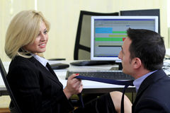 Office relationship stock images