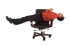 Office relaxation yoga position Royalty Free Stock Photography