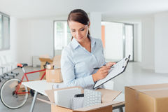 Office relocation checklist Royalty Free Stock Photos