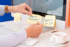 Office reminders Royalty Free Stock Photo