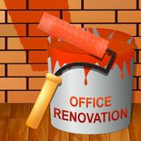 Office Renovation Means Company Upgrading 3d Illustration. Office Renovation Paint Means Company Upgrading 3d Illustration stock illustration