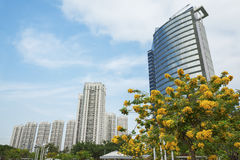 Office and residential buildings in Stock Photo