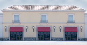 Office or Retail Building. Cream and red office building or retail store exterior stock photography