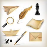 Retro icon set Stock Photography