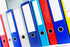 Office ring binders Royalty Free Stock Images