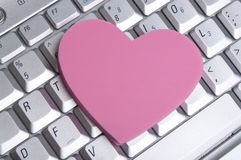 Office Romance. Office or Internet Romance Concept Image Royalty Free Stock Photography