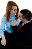 Office romance Royalty Free Stock Photos