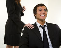 Office romance Royalty Free Stock Image