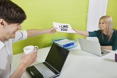 Office Romance.  Royalty Free Stock Image