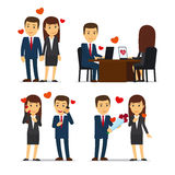 Office romance or love affair at work Royalty Free Stock Images
