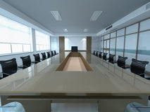 Office room. Bright office room with table for negotiations Stock Images