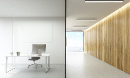 Office room and hallway Royalty Free Stock Photo