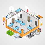 Office room icons set Royalty Free Stock Photos