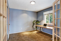 Office room interior in light lavender Royalty Free Stock Images