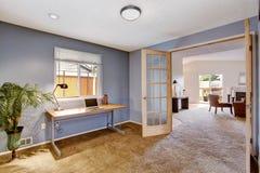 Office room interior in light lavender Stock Photo