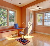 Office room interior in peach color Royalty Free Stock Image