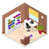 Office Room. Isometric View. Vector Royalty Free Stock Images