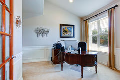 Office room in luxury house Stock Photography