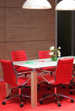 Office room. Office, meeting room with red chairs Royalty Free Stock Photo