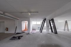 Office Room is under renovation or under construction.  royalty free stock photos