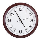 Office round the clock shows almost five hours Stock Photography