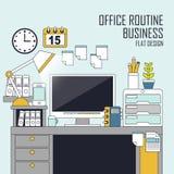 Office routine concept Stock Photos