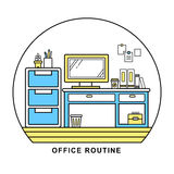 Office routine Stock Images