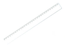 Office ruler. Office clerical ruler for measuring isolated on a white background Royalty Free Stock Image