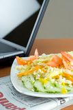 Office salad for lunch Royalty Free Stock Images